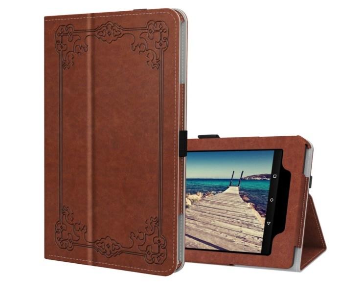 Ztotop Premium Folio Brown PU Leather Case