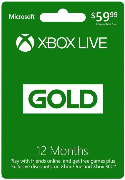 Xbox Live Gold - $59.99