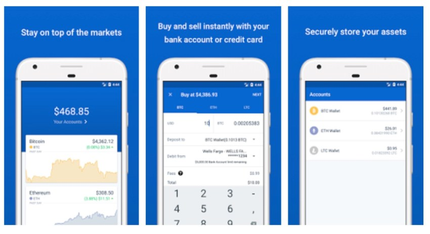 coinbase android pay