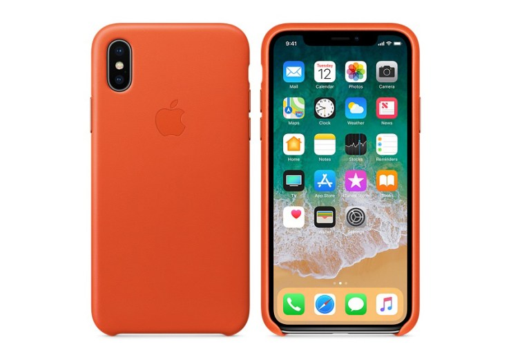 Apple Leather iPhone X Case