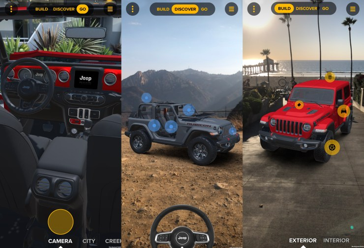 Use the Jeep Adventure Reality App to customize your dream 2018 Wrangler in