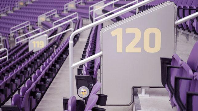 New handrail antennas will help fans stay connected at the Super Bowl.