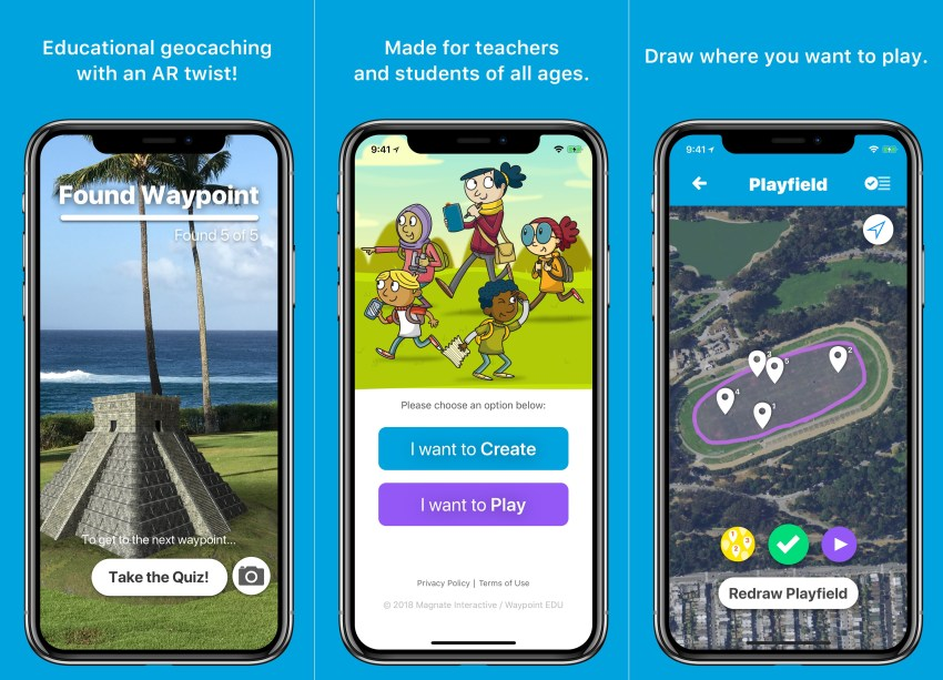 Waypoint EDU is a cool AR game that delivers cool learning experiences.