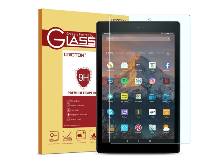 OMOTON Tempered Glass for Fire HD 10
