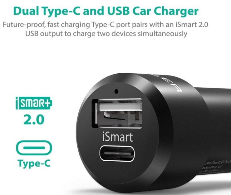 RAVPower USB-C Dual Charger