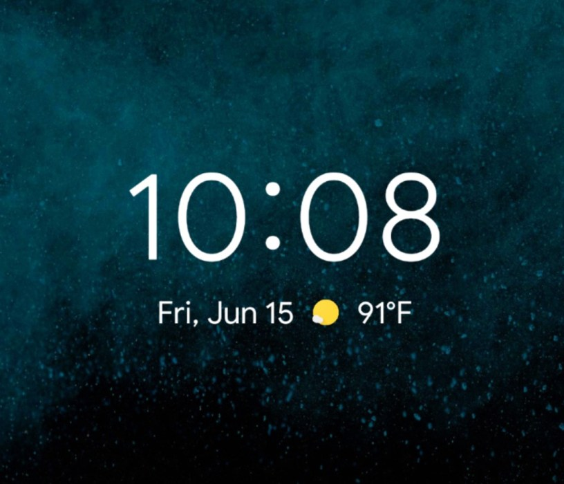 Weather, Events & More on Lockscreen
