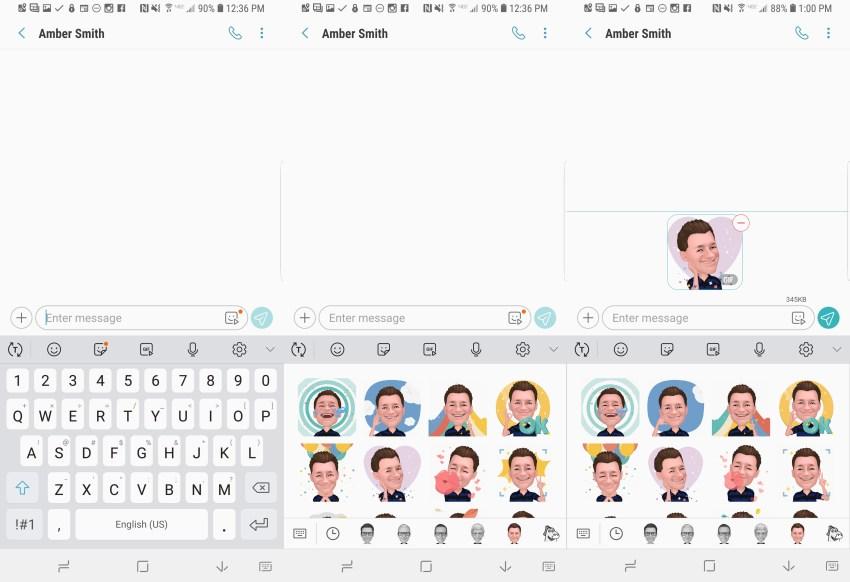 Add an AR Emoji as a sticker or GIF.