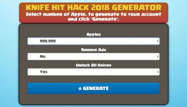 Don't believe in Knife Hit cheats and hacks the promise you unlimited apples.