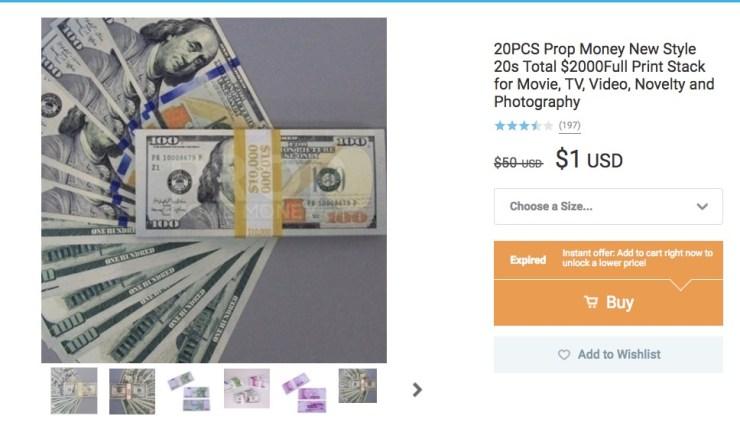 $2000 in Fake Money