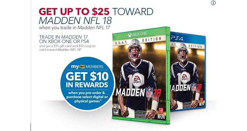 Watch for Madden 19 deals.