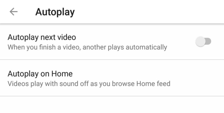 how to turn on autoplay on youtube app