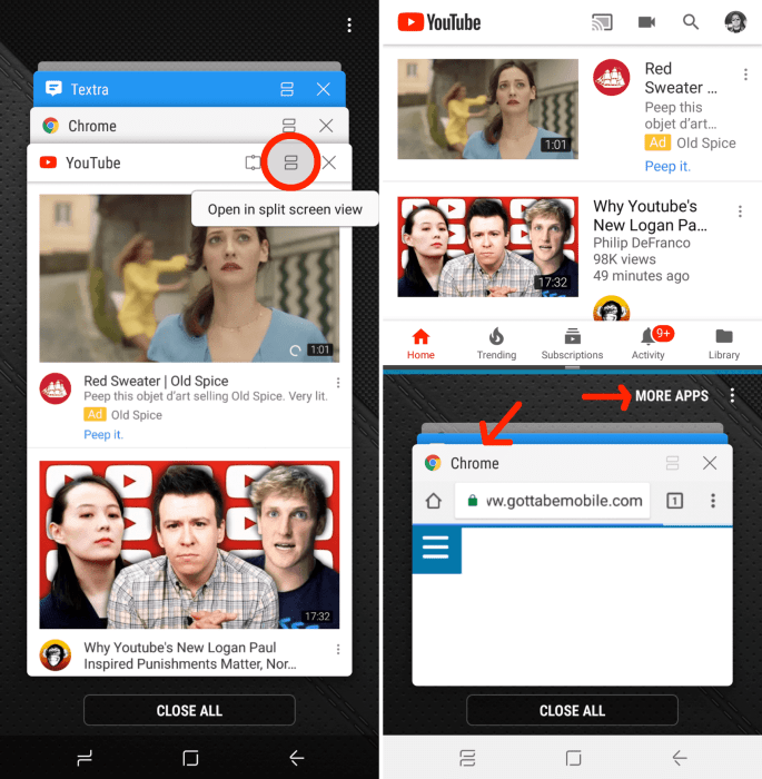 How to Use Multi Window Mode on the Galaxy S9