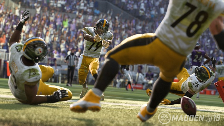 this is an example of the new Madden 19 graphics.