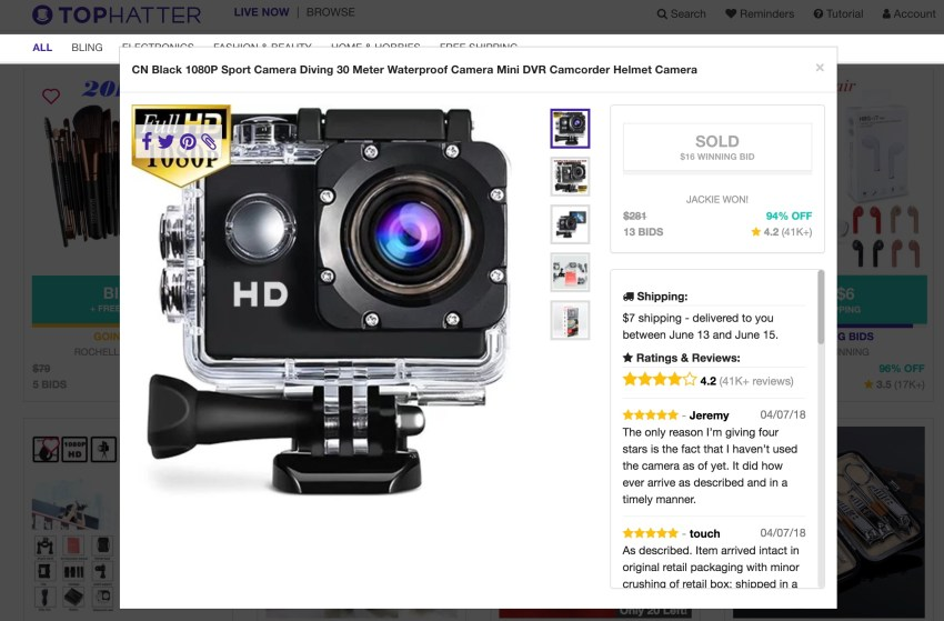 This might look like a GoPro, but it's an off brand.