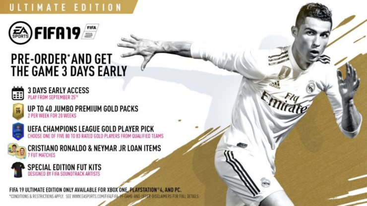 If you a diehard FUT fan, pick up the FIFA 19 Ultimate edition.