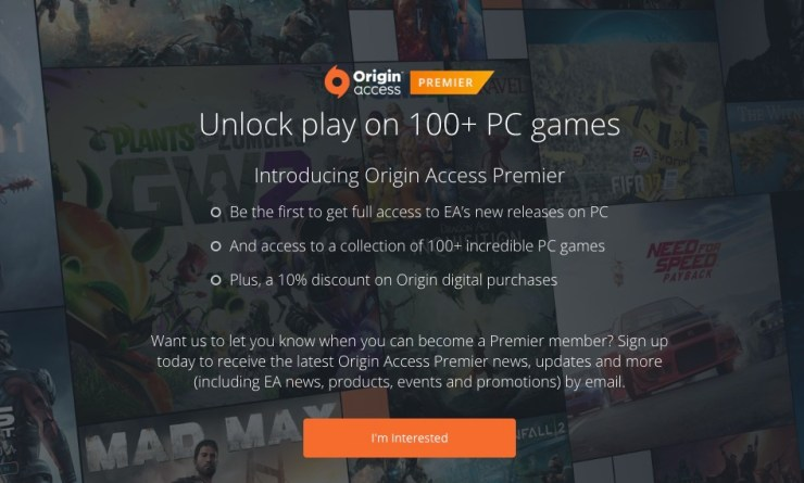What is Origin Access Premier?