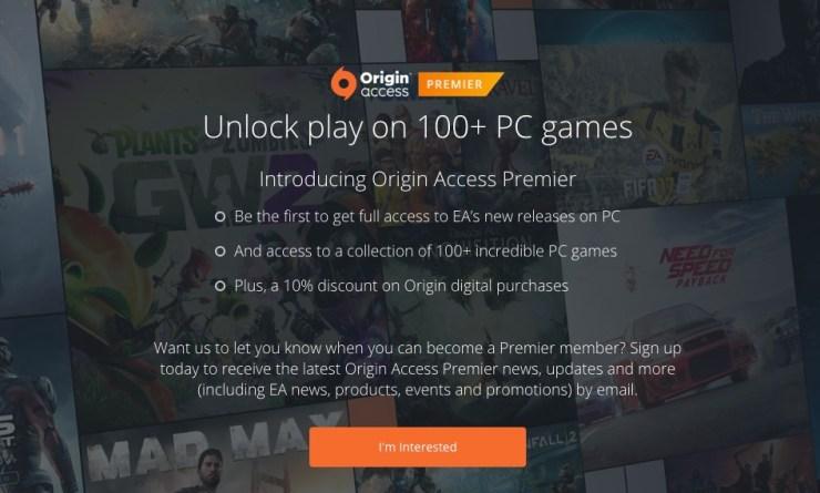 What is Origin Access Premier?