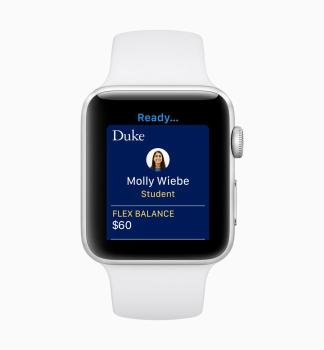 Carry your Student ID on your Apple Watch.