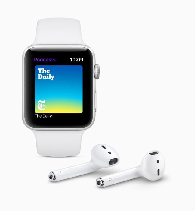 Listen to podcasts right from your Apple Watch.
