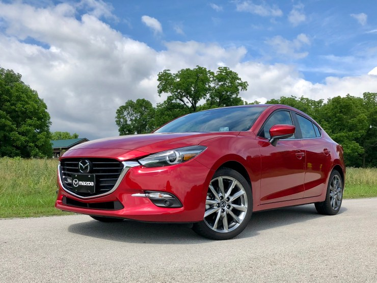 The Mazda 3 sedan is stylish.