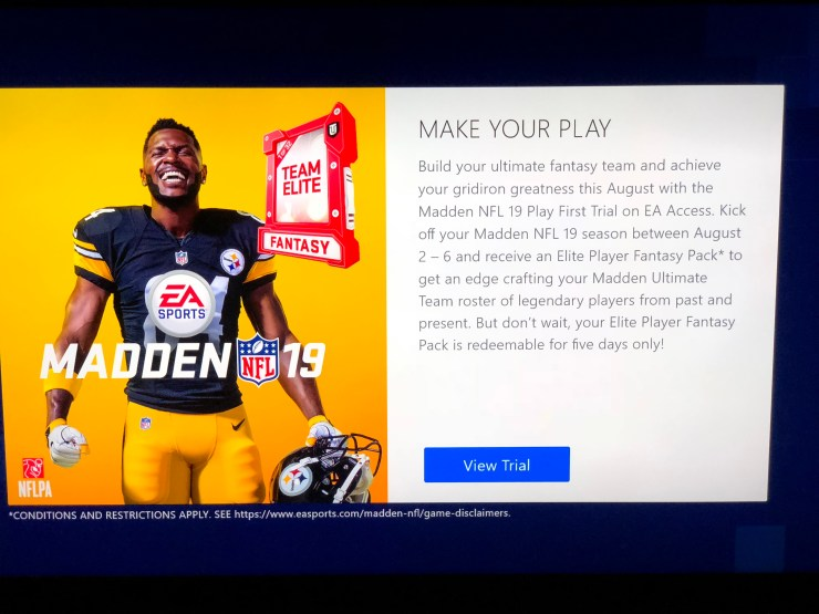 You get a bonus if you play Madden 19 early.