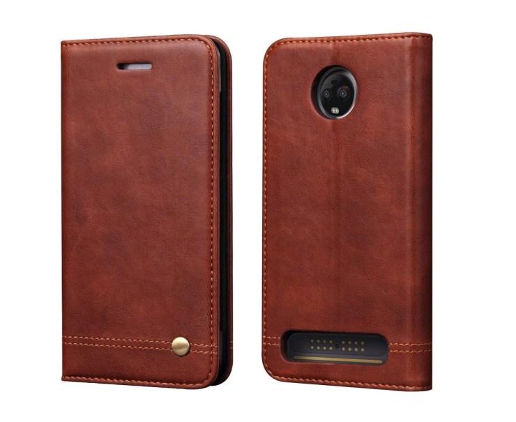 Moto Z3 Luxury Leather Wallet Case