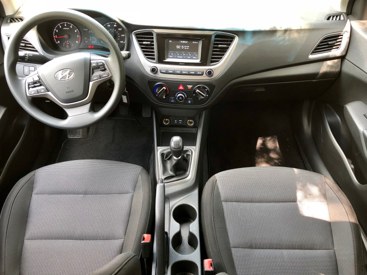 The Accent SE interior is nice for the price.