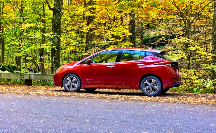 The 2018 Nissan Leaf provided more than enough range for my simulated weekend in Vermont.