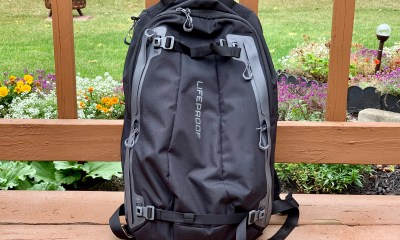 The LifeProof Goa is great slim backpack that is weather resistant.