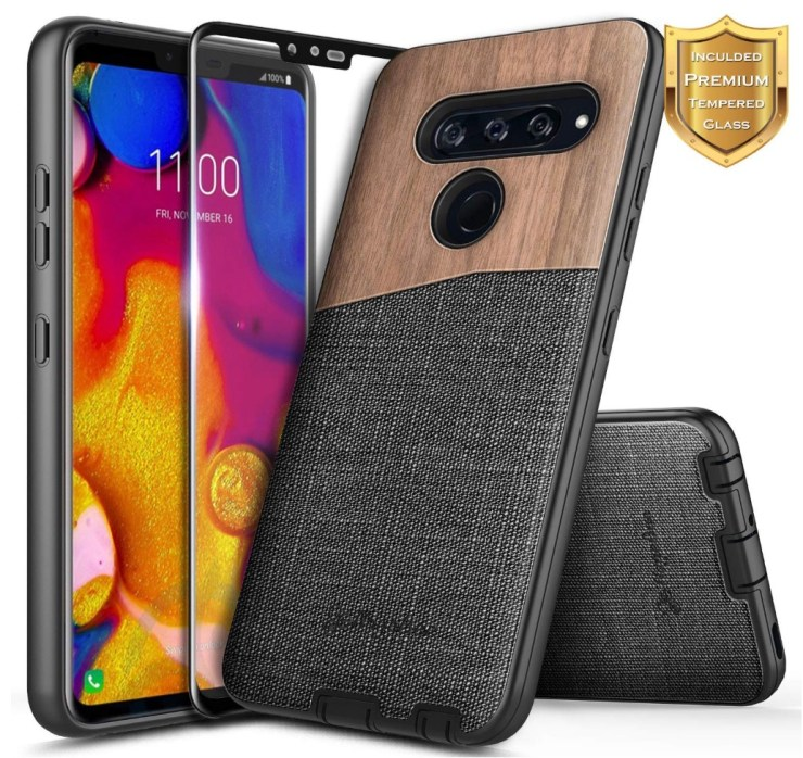NageBee Wood Case (Built-in Screen Protector)