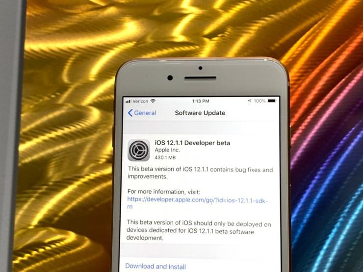 Install the Beta to Help Improve iOS 12.1.1