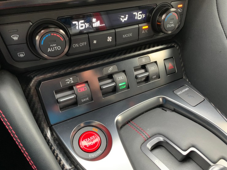 Control your driving modes with three switches on the dash.