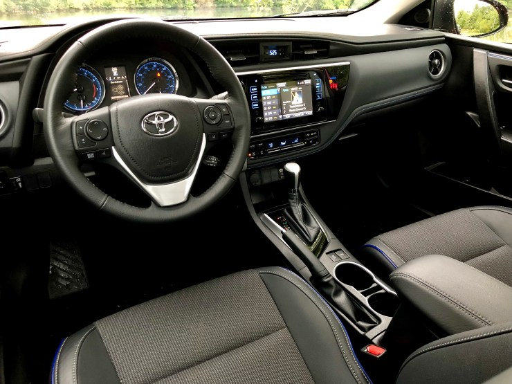 The 2018 Toyota Corolla interior is nice, though there are some hard plastics.