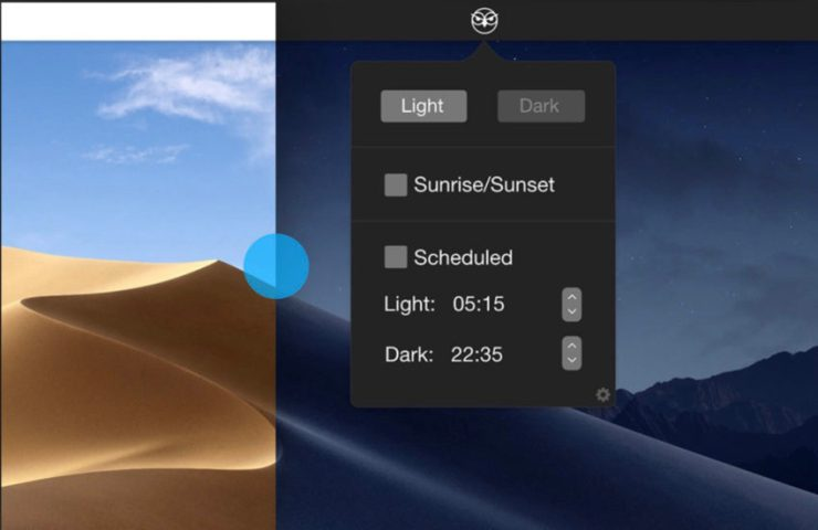 How to automatically switch between light mode and dark mode in macOS Mojave.