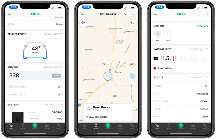 Use DroneMobile to monitor your car status as well as control it.
