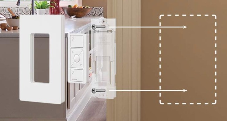 Install the wall mount and wall plate.
