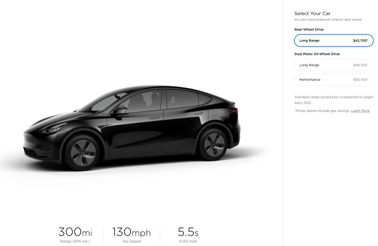 Model Y pricing revealed with a $39,000 starting price and $8,000 in options.