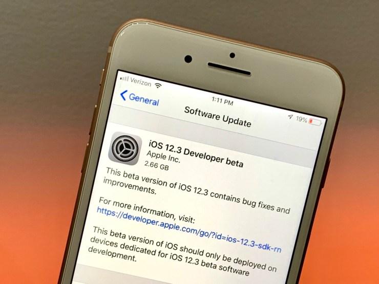 Install the iOS 12.3 Beta to Help Improve iOS 12.3