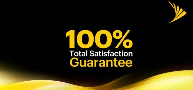 What do you get with Sprint's 100% Total Satisfaction Guarantee.