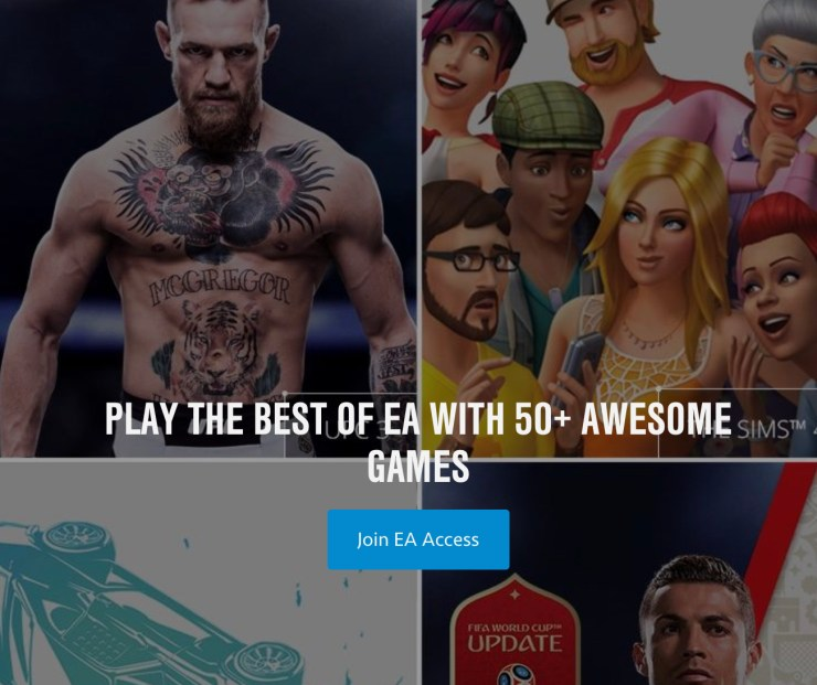 Play over 50 games with EA Access n PS4. Play over 50 games with EA Access n PS4.