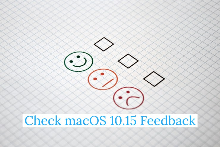 Research macOS Catalina Feedback