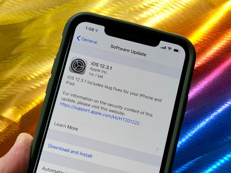 iOS 12.3.1 Fixes and Changes
