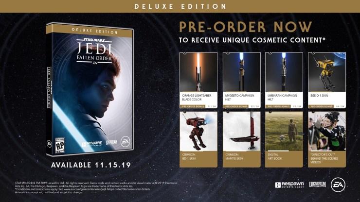 Pre-Order Star Wars Jedi: Fallen Order for Bonuses