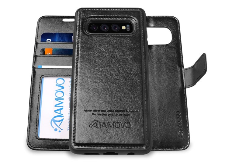 6f038e4a1 AMOVO Detachable Galaxy S10+ Wallet Case. Buy it Now on ...