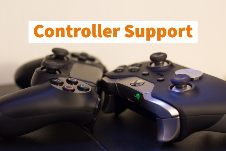PS4 Dualshock & Xbox One Controller Support