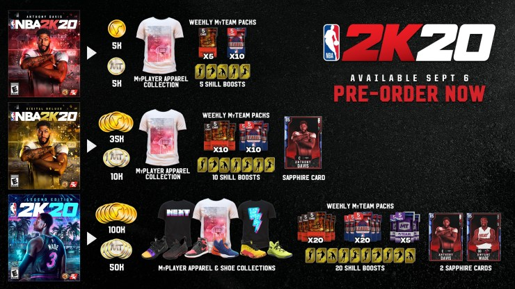 Pre-Order NBA 2K20 for These Bonuses