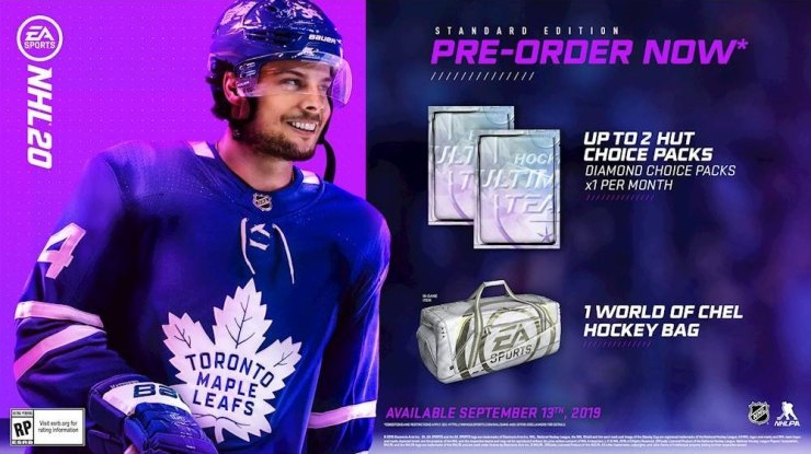 What you get with the NHL 20 standard edition.