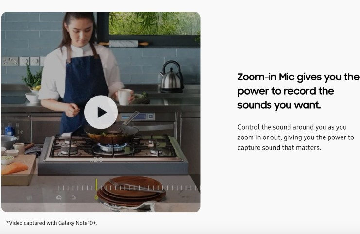Audio Zoom and Dynamic Sound