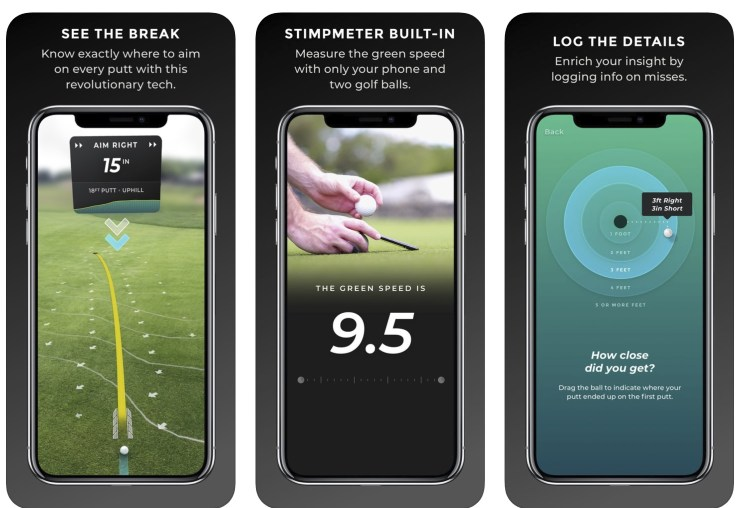 Improve your putting with this AR golf app.