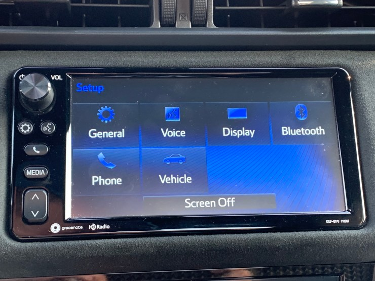 The infotainment system is due for an update.